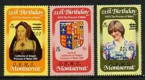 Montserrat O62-4 MNH Princess Diana 21st Birthday, Catherine of Aragon, Crest