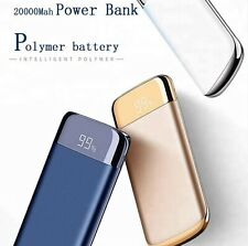20000mAh LCD Power Bank2USB LED Battery Charger Universal Phone/Tablet White