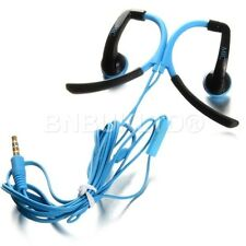 BLUE sports ear over headphones earphones with mic + remote for gym jogging mp3