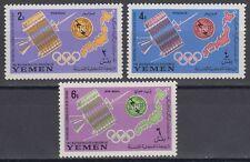 Yemen Kgr 1965 ** Mi.145/47 A Fernmeldeunion ITU Telecommunications UIT