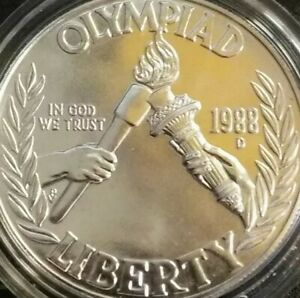 1988 D Olympic Proof Silver Dollar USA Olympics Mint $1 Uncirculated Coin