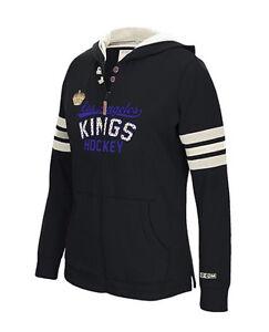 NHL Los Angeles Kings Women's CCM Full Zip Hoodie - Black