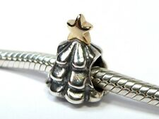 GENUINE PANDORA 925 ALE SILVER & 14ct GOLD CHRISTMAS TREE CHARM BEAD 790365