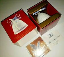 New in opened box - Lladro Spain 2001 Porcelain Christmas Bell Ornament #16718