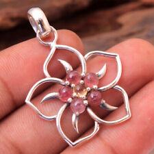 "Pink Tourmaline Gemstone 925 sterling Silver Jewelry Handmade Pendant 1.5"""