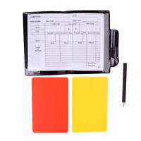 Soccer Referee Wallet w/ Red Yellow Card Pencil Score Sheet Pad Football Set