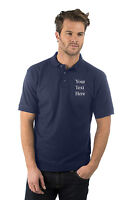 Personalised Embroidered Mens/Ladies Navy Blue Polo Shirt,Text,Name,Company Logo