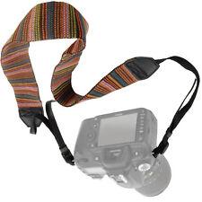 Camera Strap Retro Soft Safety Tether Multi-color Neck Wrist Strap for Canon Nik