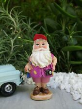 Miniature Dollhouse FAIRY GARDEN ~ Traveling VACATION Gnome with Camera ~ NEW