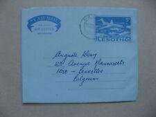 LESOTHO, prestamped aerogramme to Belgium 1971, aeroplane