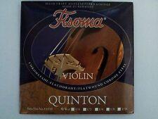 Fisoma Quinton Acero/Acero Cromo plano de la herida Violín String Set 4/4 por Lenzner