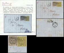ITALY - DUCHY OF MODENA 1853, RR ENTIRE FOLD LETTER, DIENA CERTIFICATE.  #Z904