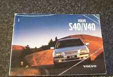 Volvo S40 V40 2001 Edition Owners Handbook (Facelift) TP5206