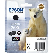 Epson Original T2621 (26XL) Black Ink Cartridge (C13T26214010)XP-600 605 700 800