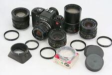 Leitz Leica R7 vintage 35mm camera & 5 x Leitz lens: 28, 35, 50, 90, 135 mm