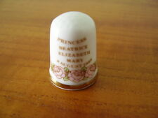 CAVERSWALL BONE CHINA THIMBLE - BIRTH OF PRINCESS BEATRICE 1988