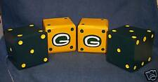 "**NEW** 3"" Green Bay Packers Wood Lawn Dice - Set of 2!"