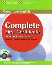 Cambridge COMPLETE FIRST CERTIFICATE FCE Workbook with Answers & Audio CD @NEW@
