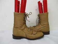 CAPEZIO Tan Leather Lace Kiltie Boots Womens Size 7.5 M USA