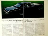 1969 Chrysler Imperial Lebaron 4 Door Hardtop Two Page Print Ad