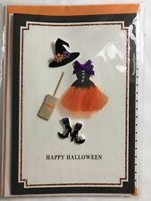 Halloween Card 2019 a 3D Card with witches hat/dress/decorative shoes/broom