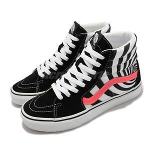 Vans Sk8-Hi Swirl Black White Fiery Coral Men Unisex Casual Shoes VN0A4U3C2U1