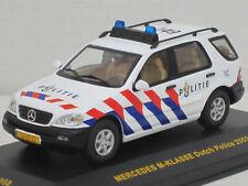 """Mercedes-Benz M-Klasse Polizei/Politie """"Dutch Police 2003"""", weiß, IXO, OVP, 1:43"""