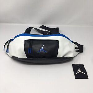 Nike Air Jordan RETRO 10 Fanny Waist Crossbody Sling Bag 9A0188 Black Blue LARGE