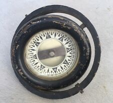 VINTAGE BRASS MARINE BOAT SHIP GYRO COMPASS Made In USA