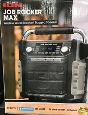 ION Job Rocker Max Bluetooth Speaker IPA81BK Portable System Black/Orange