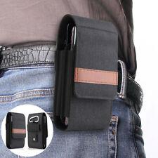 For LG Velvet /5G, Nylon Waist Belt Loop Clip Case Cover Pouch Fanny Pack