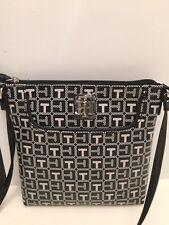 Tommy Hilfiger Womens Crossbody Bag Purse Handbag Small Black White NEW NWT $69