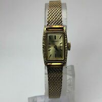 Sieko Womens 11-3180 Wind Up Gold Tone japan Movement Quartz Analog Wristwatch