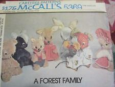 VTG 70S SEWING PATTERN FOREST ANIMALS WOLF MOUSE SKUNK RABBIT SQUIRREL WOODCHUCK