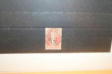 VAN DIEMENS LAND 1860-67 1d Carmine Walsh print compound perf SG 70 double print