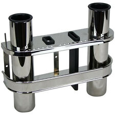 Boat Rod Rack Double Stainless Steel Rod Rack for Boat Fishing Rod Holder