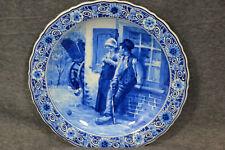Keramik, Delft, Wandteller,auf Freiersfüssen, Blommers, Fles