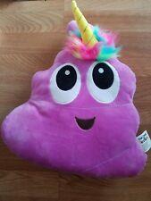 15 Inch Purple Poop Poo Unicorn Emoji Emoticon Pillow Stuffed Plush
