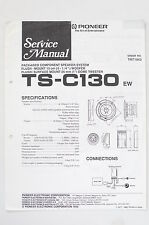 PIONEER TS-C130 Speaker System Original Service-Manual/Anleitung/Schaltplan! o68