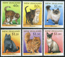 New Zealand 1484-1489, Mnh. Cats:Moggy,Burmese,Birman ,British blue,Persian, 1998