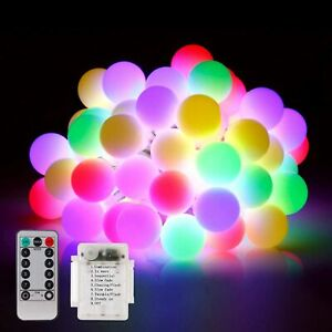 Indoor Outdoor String Lights Patio Party Yard Garden Wedding 23ft 50 Led String