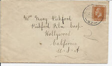 Early 20th Century New Zealand Cover Addressed to Mary Pickford - 162 P 14x15*