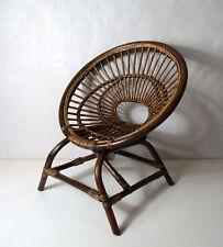 fauteuil en rotin pour enfant Vintage