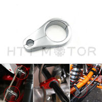 "25mm 1"" Chrome Motorcycle Brake Line Clutch Cable Handlebar Frame Clamp Clips"