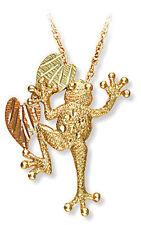 Landstrom's® Small 10K Black Hills Gold Frog Pendant