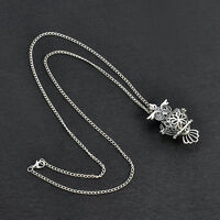 New Women Owl Pendant Long Chain Necklace Sweater Statement Vintage Jewelry Gift