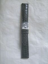 "Bracelet de montre COBRA ""Polka"" en cuir de veau façon croco marron 18 mm neuf"