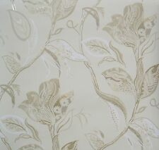 RONALD REDDING MULTI COLORED FLORAL on BEIGE wallpaper DOUBLE ROLL