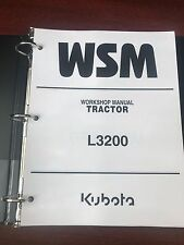 KUBOTA L3200 TRACTOR REPAIR / SERVICE / WORKSHOP MANUAL