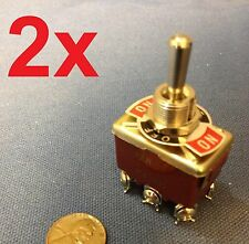 2 Pieces RED DPDT momentary switch on/off/on motor reverse 30dash car truck ba